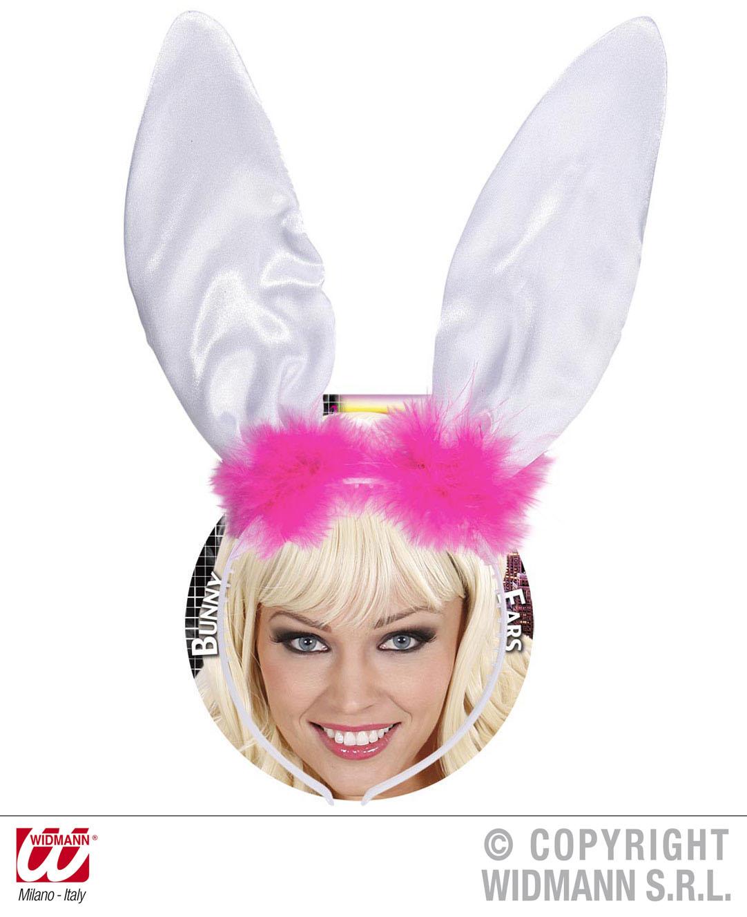 Bunny Hasen Ohren, Haarreif  weiß 19 cm Erwachsene, KInder
