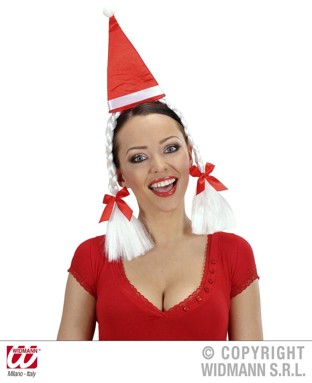 Weihnachts Minihütchen Mütze, Hut Zöpfe, Haarreif Damen Weihnachten