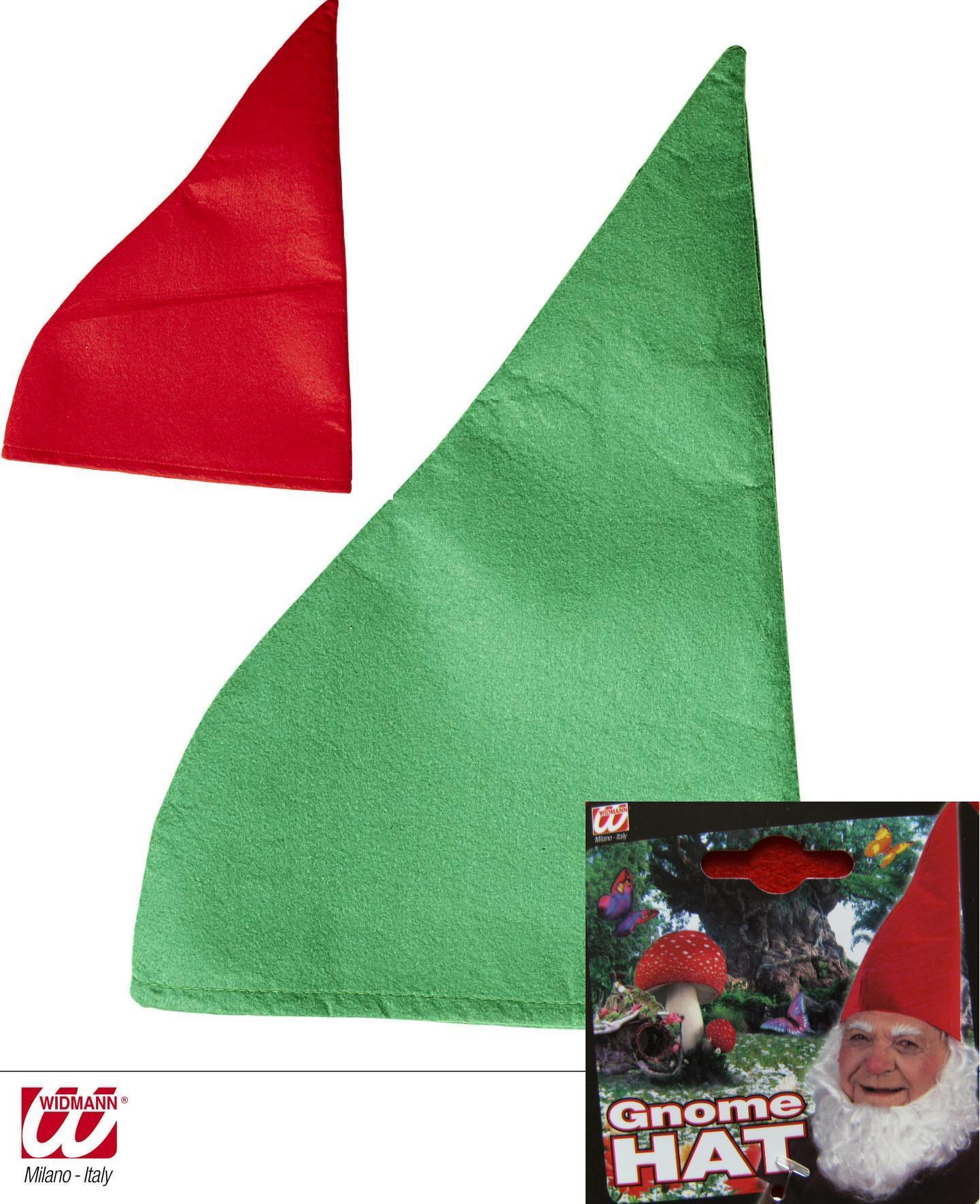 Wichtel Zwerg Zwergenmütze rot, grün Erwachsene 9506