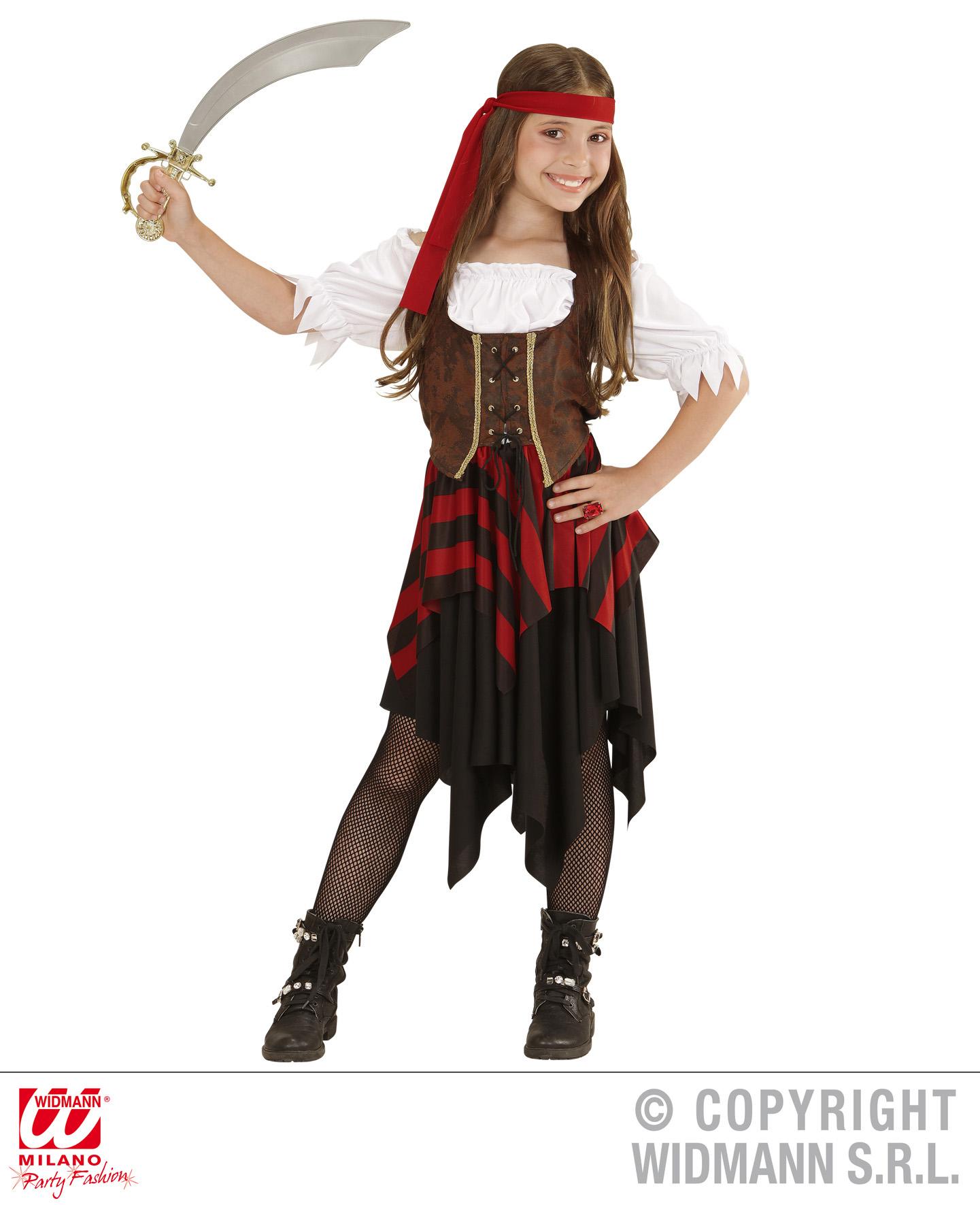 3 tlg Piratenkostüm Pirat Freibeuterin, Kinder Mädchen, Top Qualität
