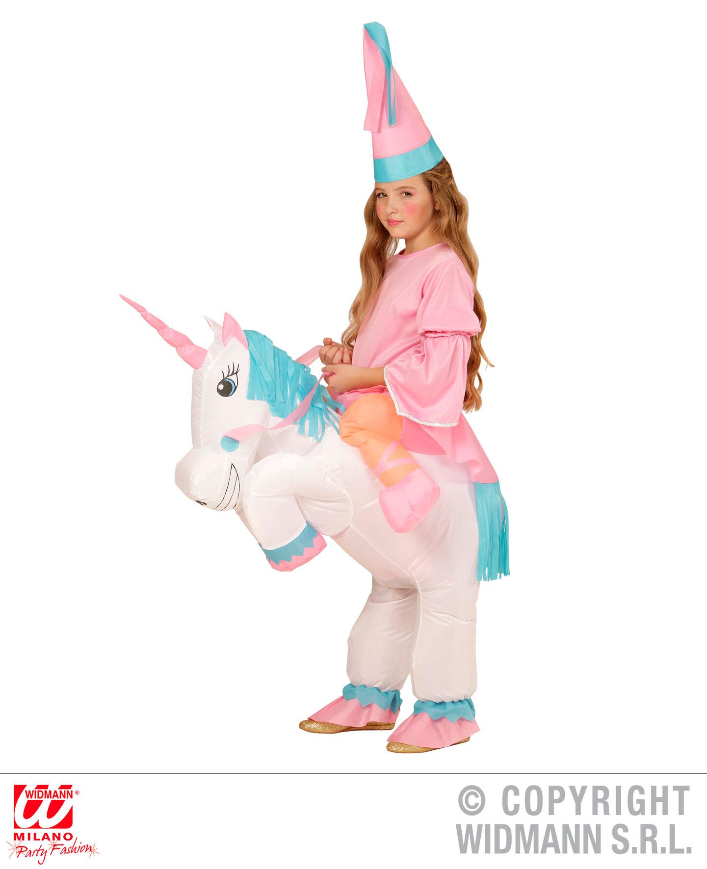 aufblasbares einhorn princess kost m kinder mit hut karneval. Black Bedroom Furniture Sets. Home Design Ideas