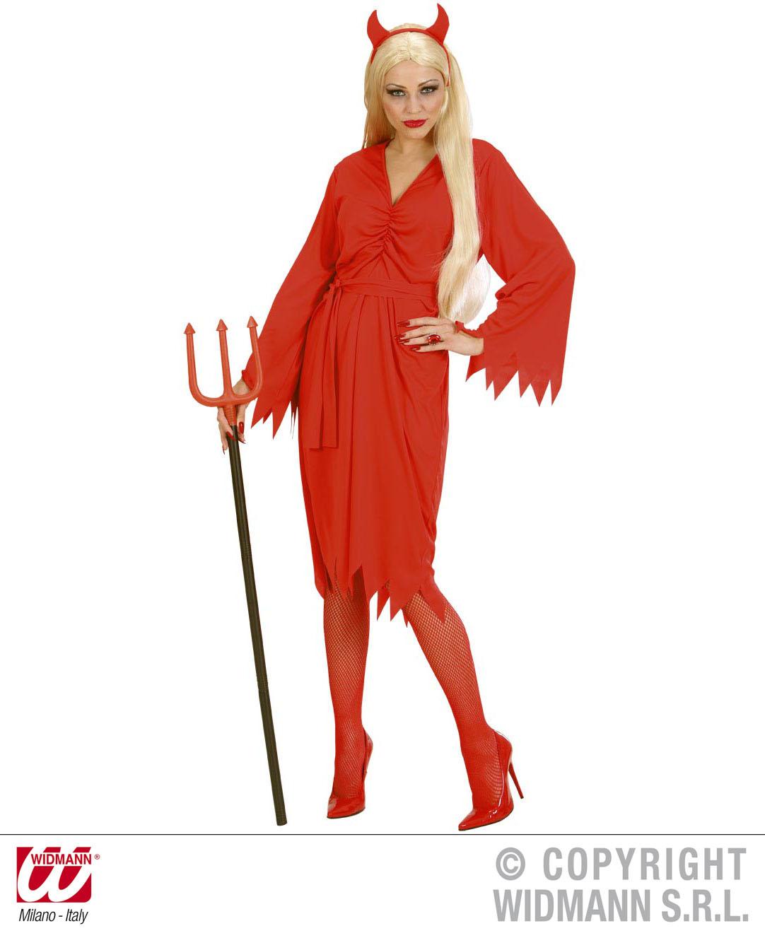 Teufel Kostüm,Teufelskostüm Gürtel + Hörner ROT Damen, S, M,  L