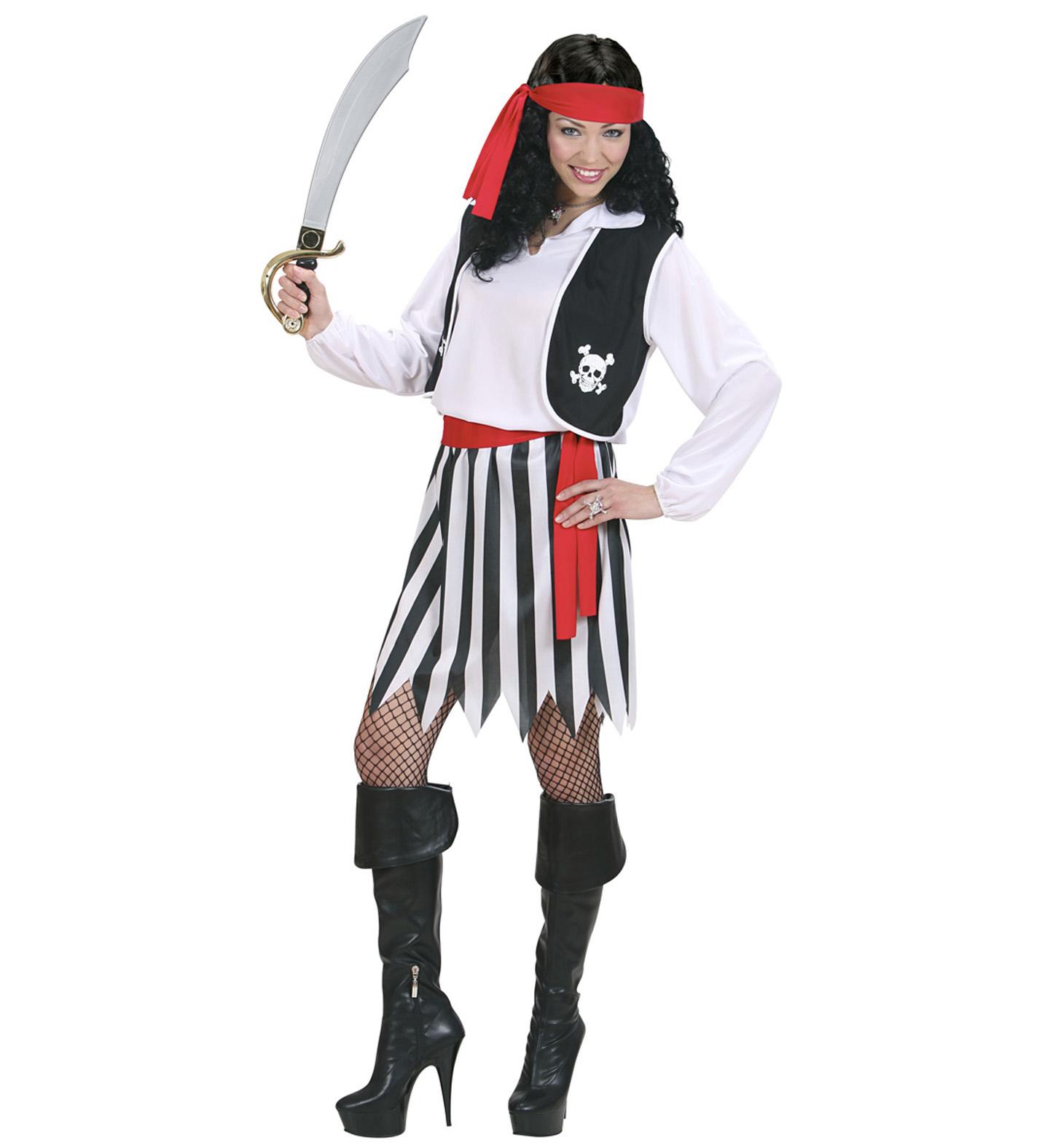 Piraten Kostüm, Piratin, Freibeuterin, Damen Karneval  S, M,  L