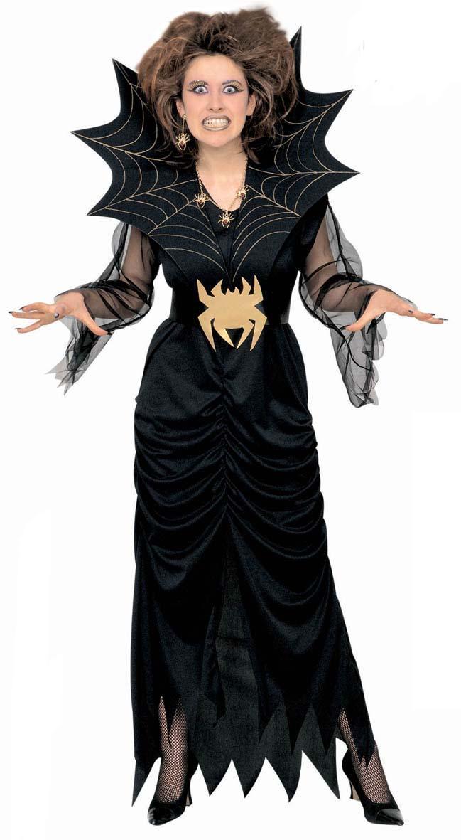 Schwarze Witwe,SPINNEN Kostüm Damen. Gr. S, M, L, XL  3940