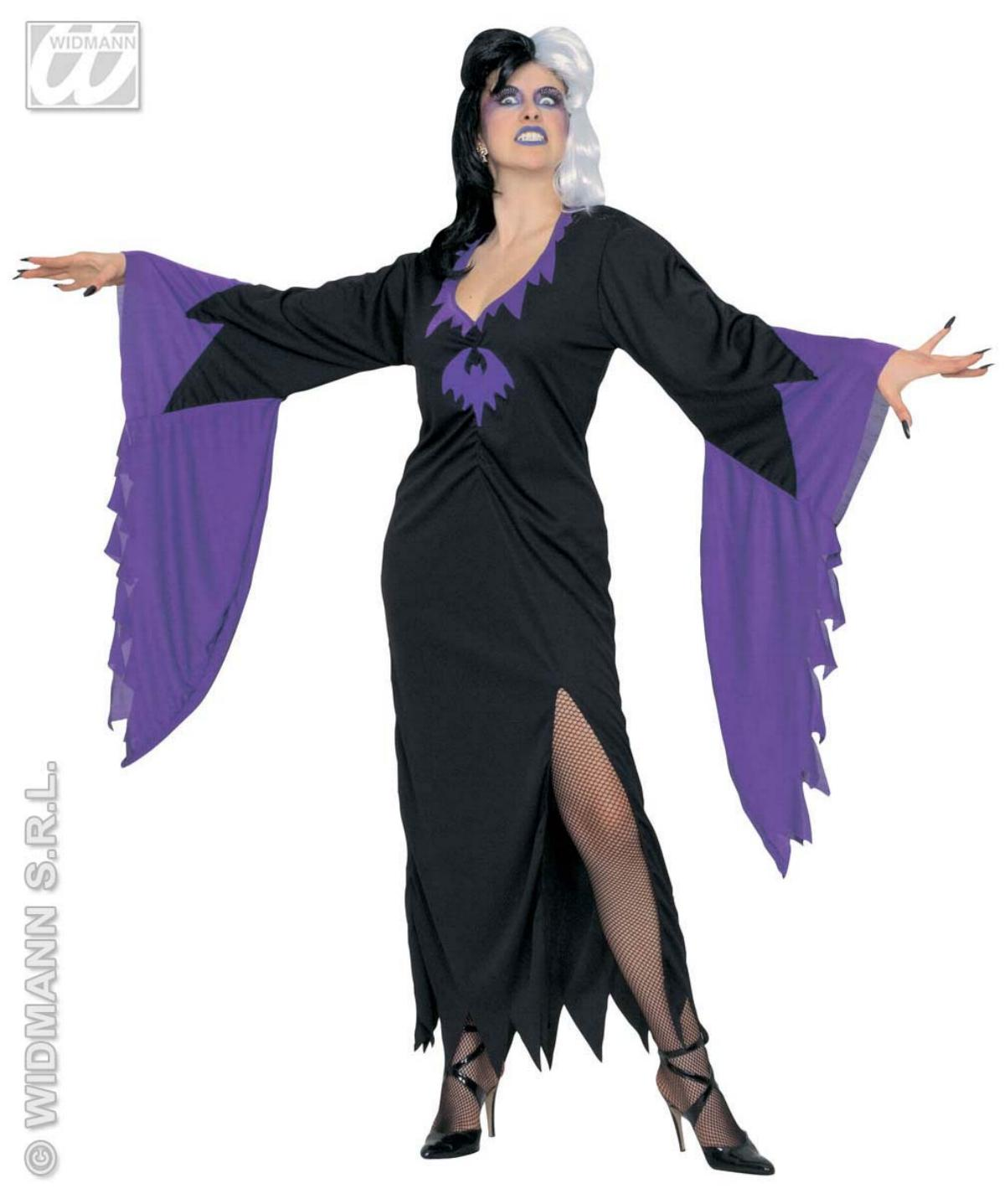Hexen Kostüm,Gothic Monster, m. Fledermausärmel S, M, L, XL, XXL  3942