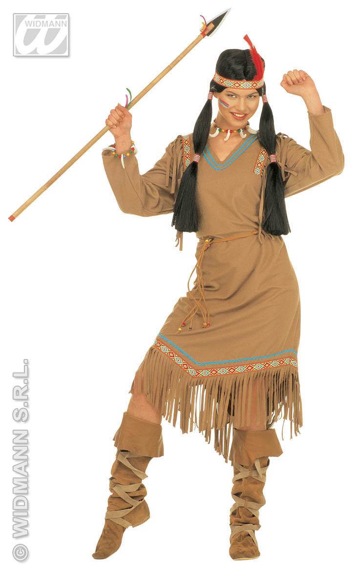 Indianerin Kostüm Squaw, Indianer 3-tlg.Karneval, S, M, L, XL  4336