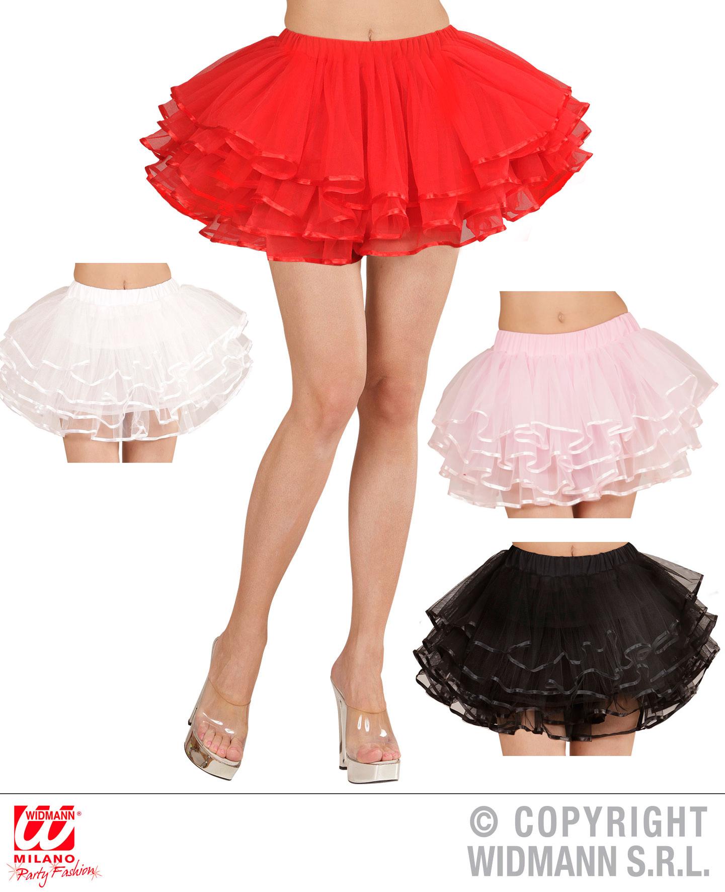 4-Lagen, Tütü, Petticoat Unterrock ca. 39 cm Deluxe Burlesque Karneval
