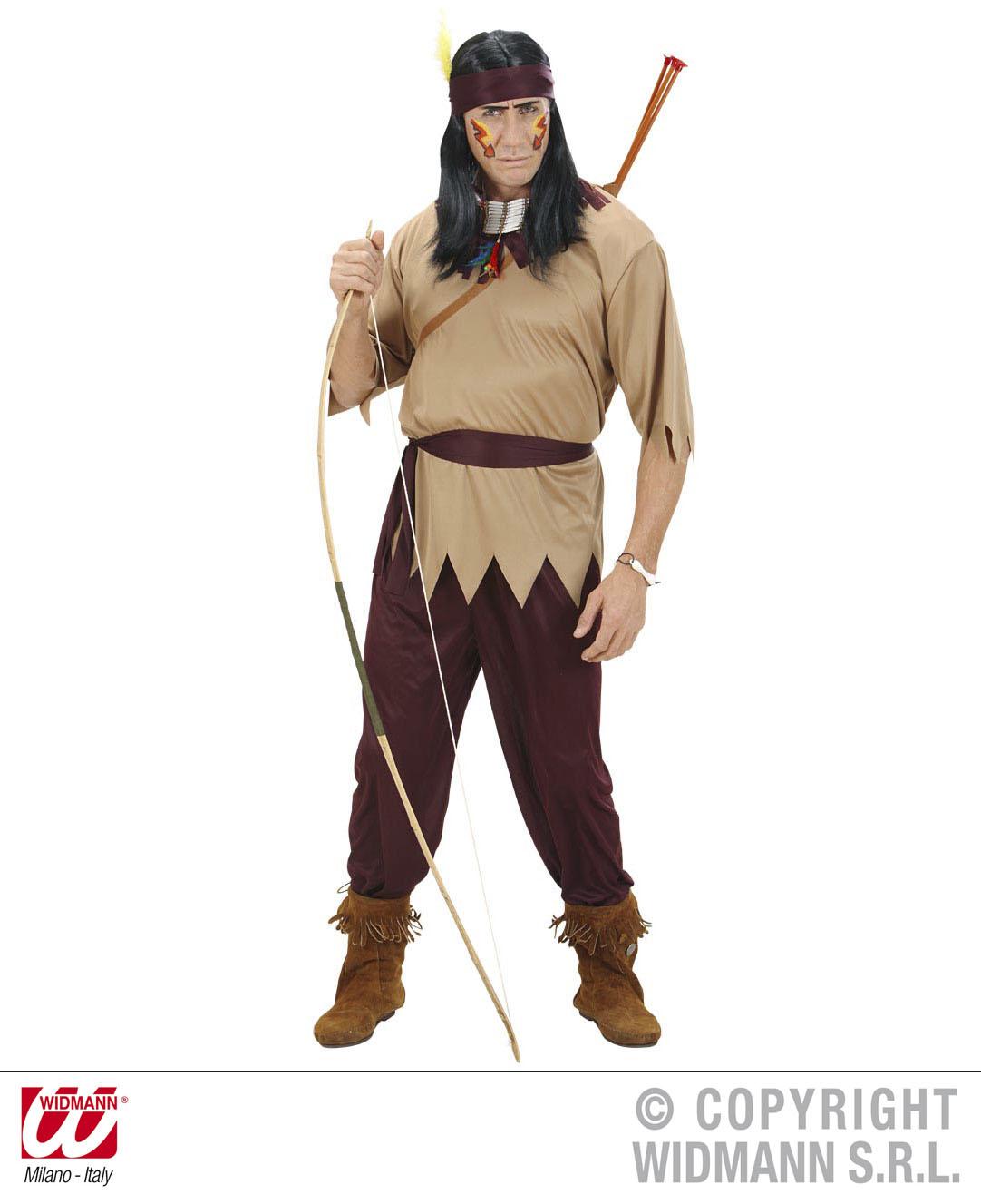 Indianer Kostüm, 4 tlg. Herren, S, M, L Karneval Mottoparty