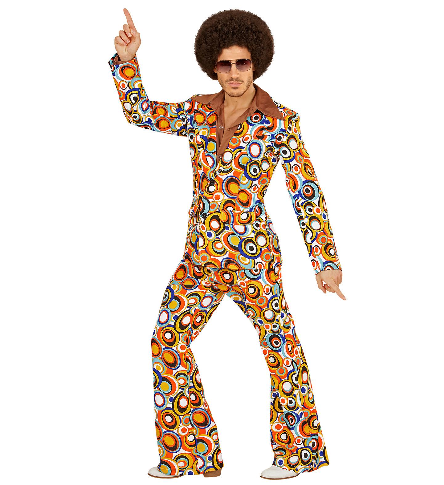 detaillierter Blick Offizieller Lieferant Schlussverkauf Anzug Bubbles bunt Schlaghose Sakko im 70er Jahre Retro ...