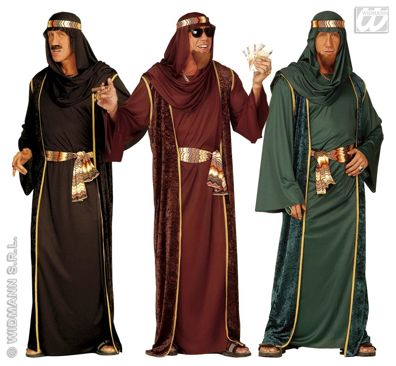Araber Kostüm, Öl Scheich, Karneval, Motto schwarz, grün, braun Gr. M