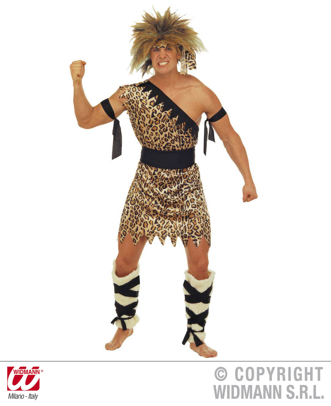 Neandertaler, Urwaldmensch Kostüm + Fellstulpen Herren S=48 M=50 L=52