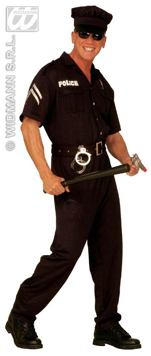 3-tlg. POLIZIST, Polizei, Uniform Kostüm,m.Hut Gr. M, L, XL 4425