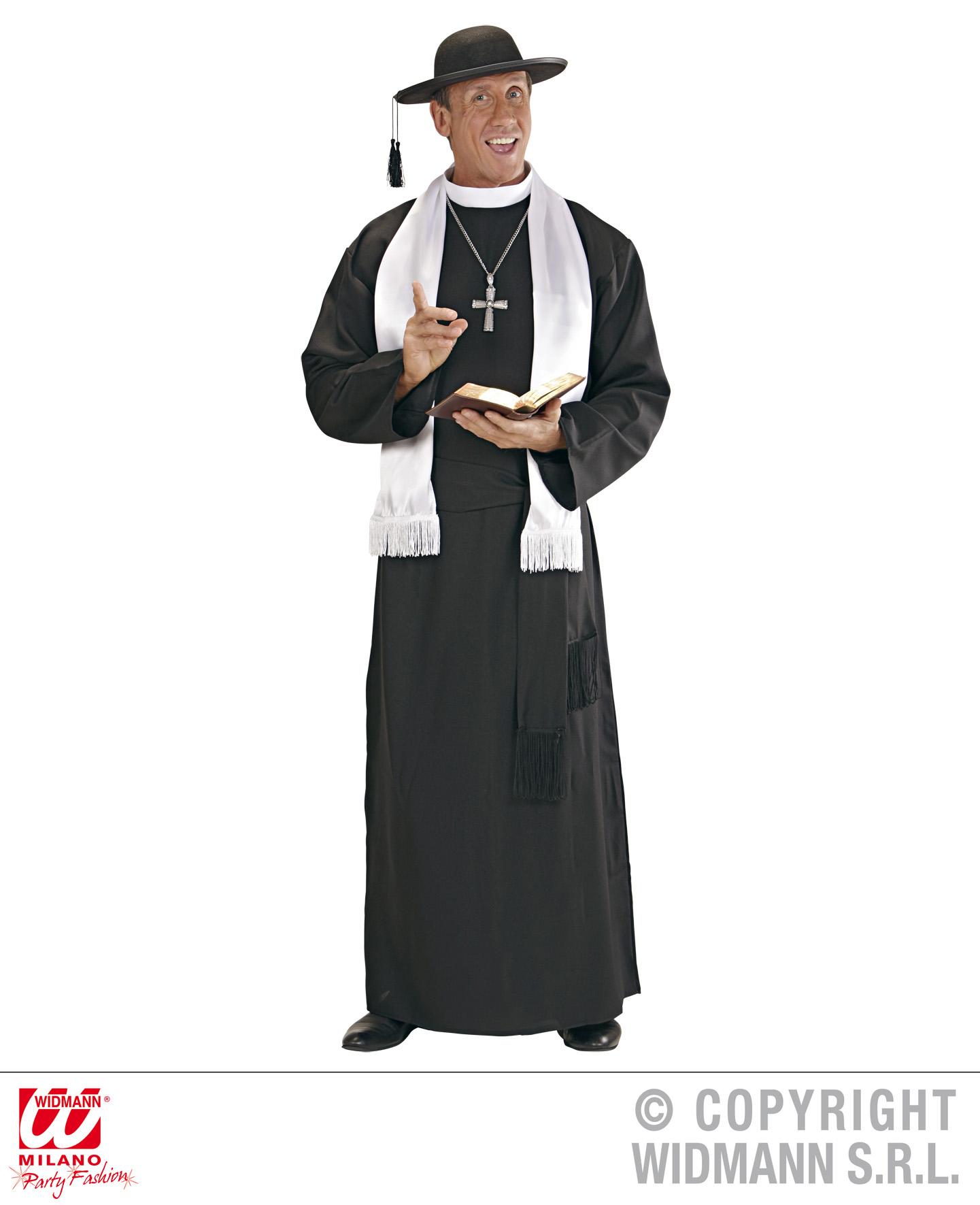Priester Pfarrer,Pastor, Gewand,Kostüm Gr. M, L, XL Top Qualität 4457