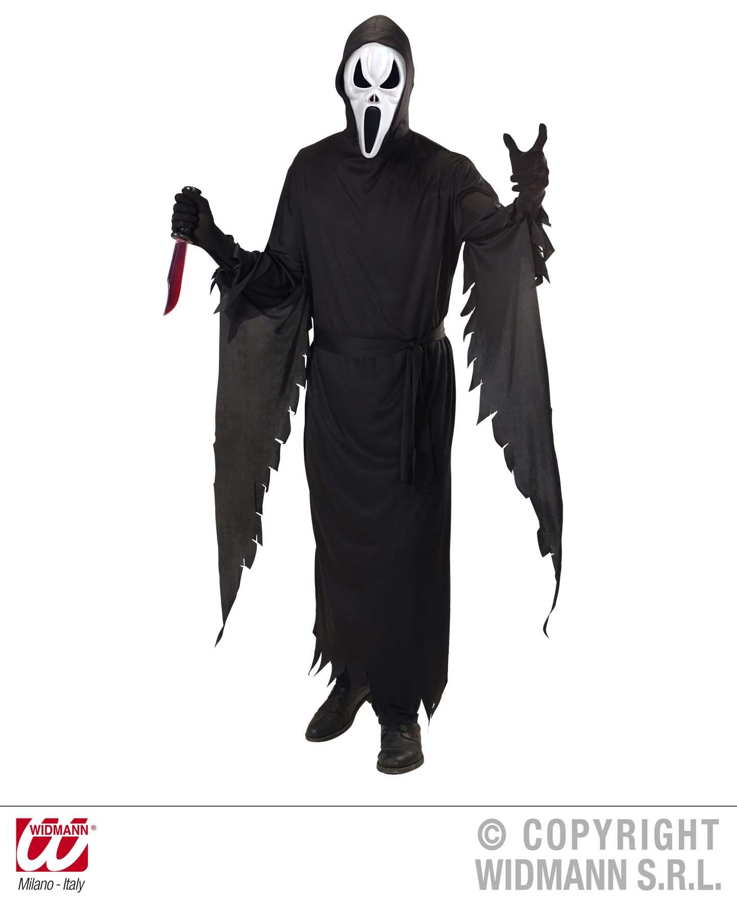 3 tlg. Scream Kostüm, schreiender Geist, Herren, S, M, L, XL,  4586
