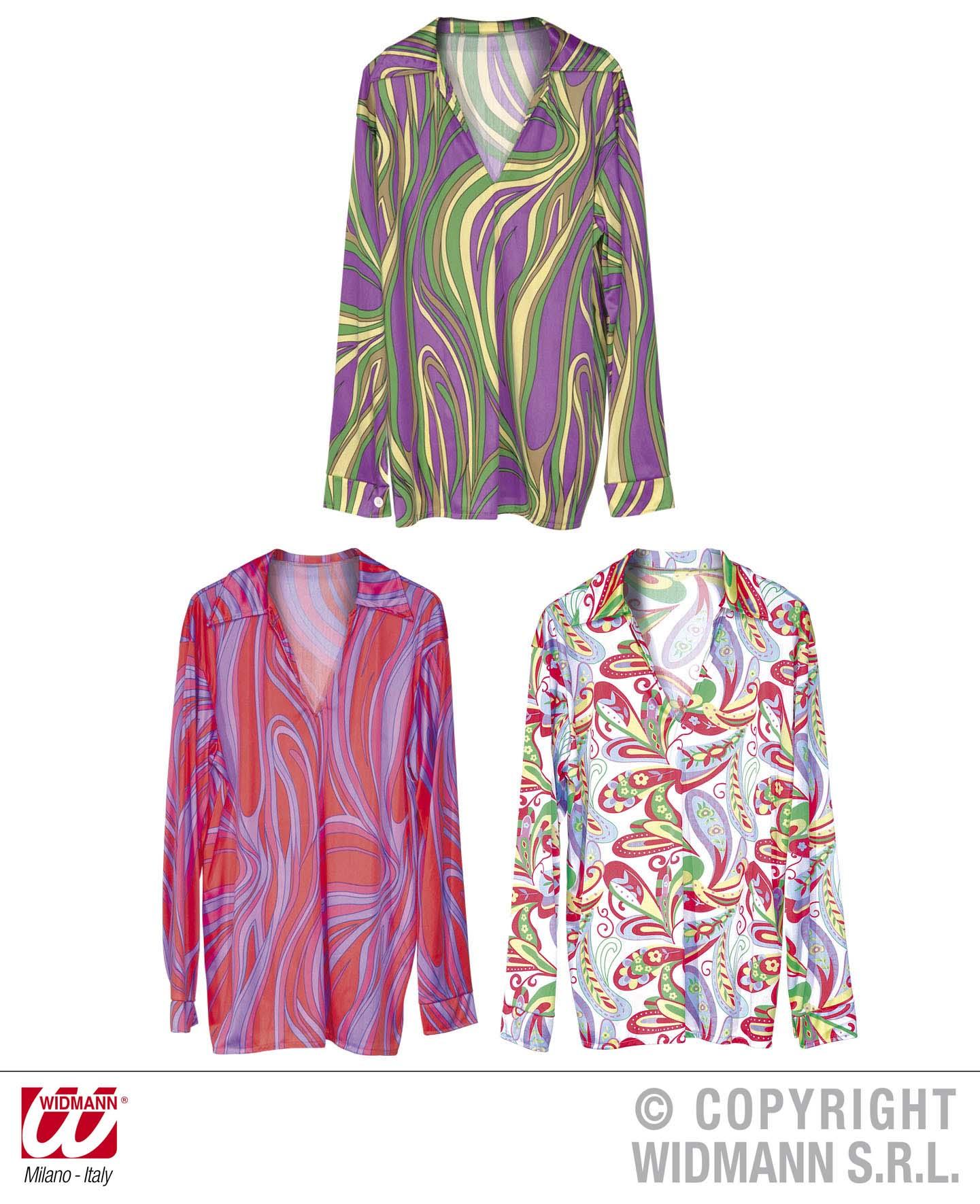 70er -80er Jahre Hippie Shirt, Hemd ,Flower, Disco Herren Gr.XL