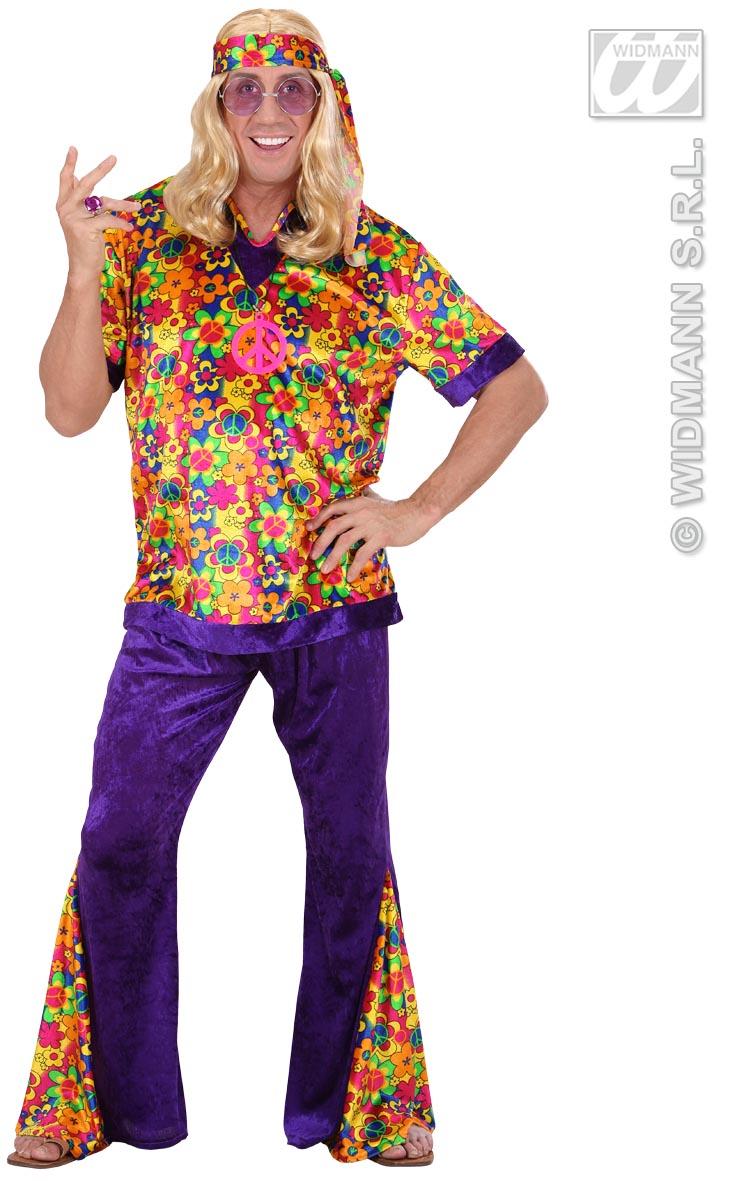 70er Hippie Kostüm, Woodstock,bunt Herren, S-48-50.M 48-50,L 50-52, XL 52-54