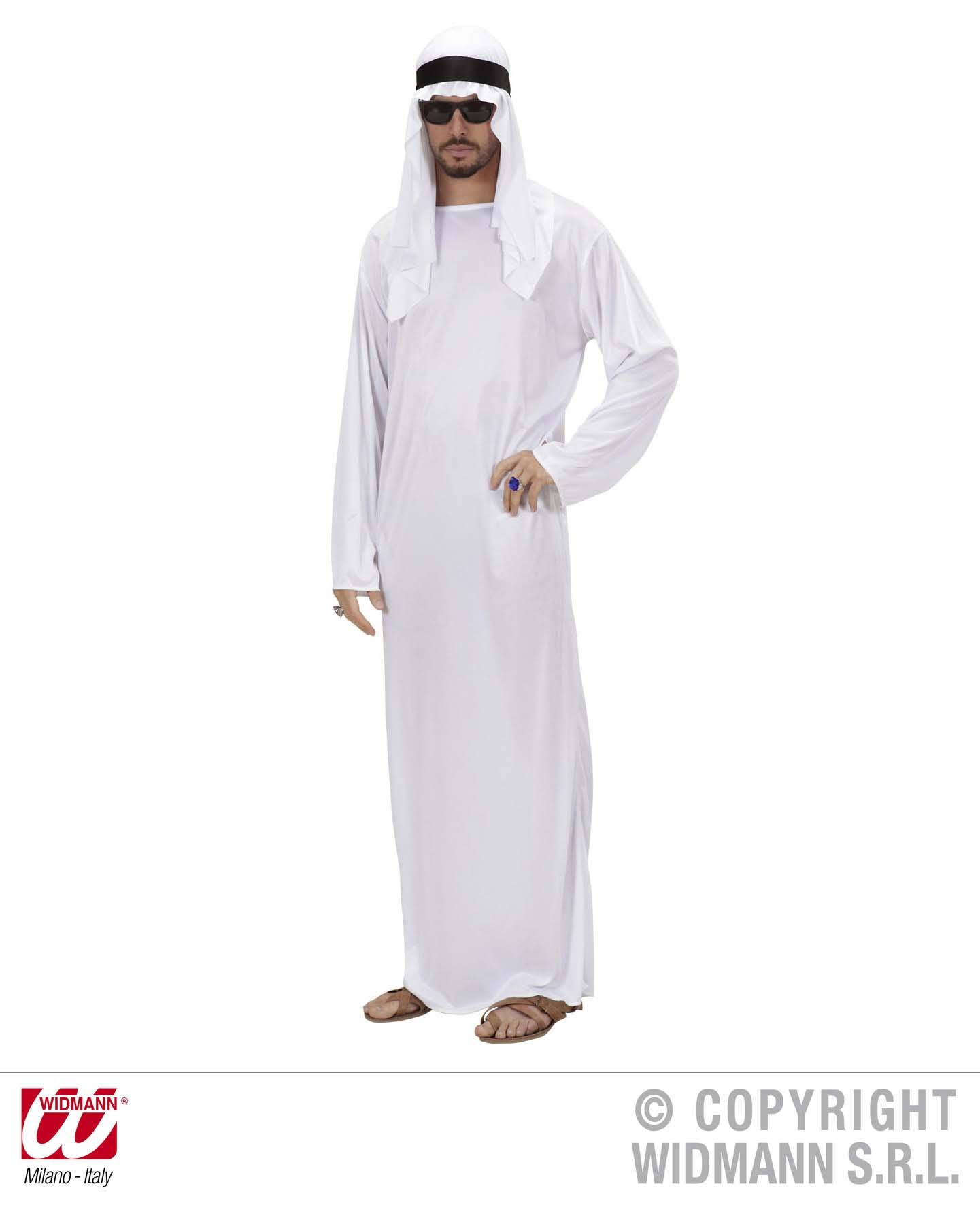 3 tlg Scheich Araber Kostüm weiß, Herren, Orient Gr. L u. XL