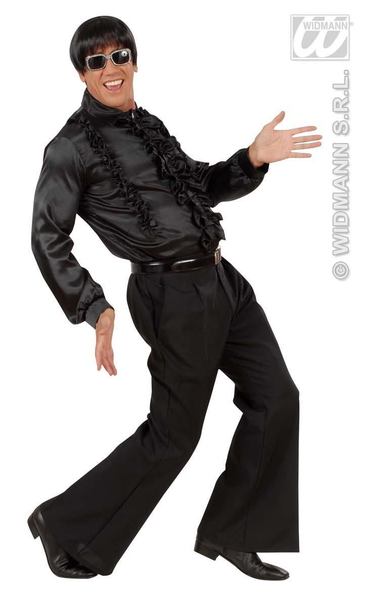 Disco Hose, 70er Jahre weiß oder schwarz, Kostüm Mann Gr M/L + XL/XXL