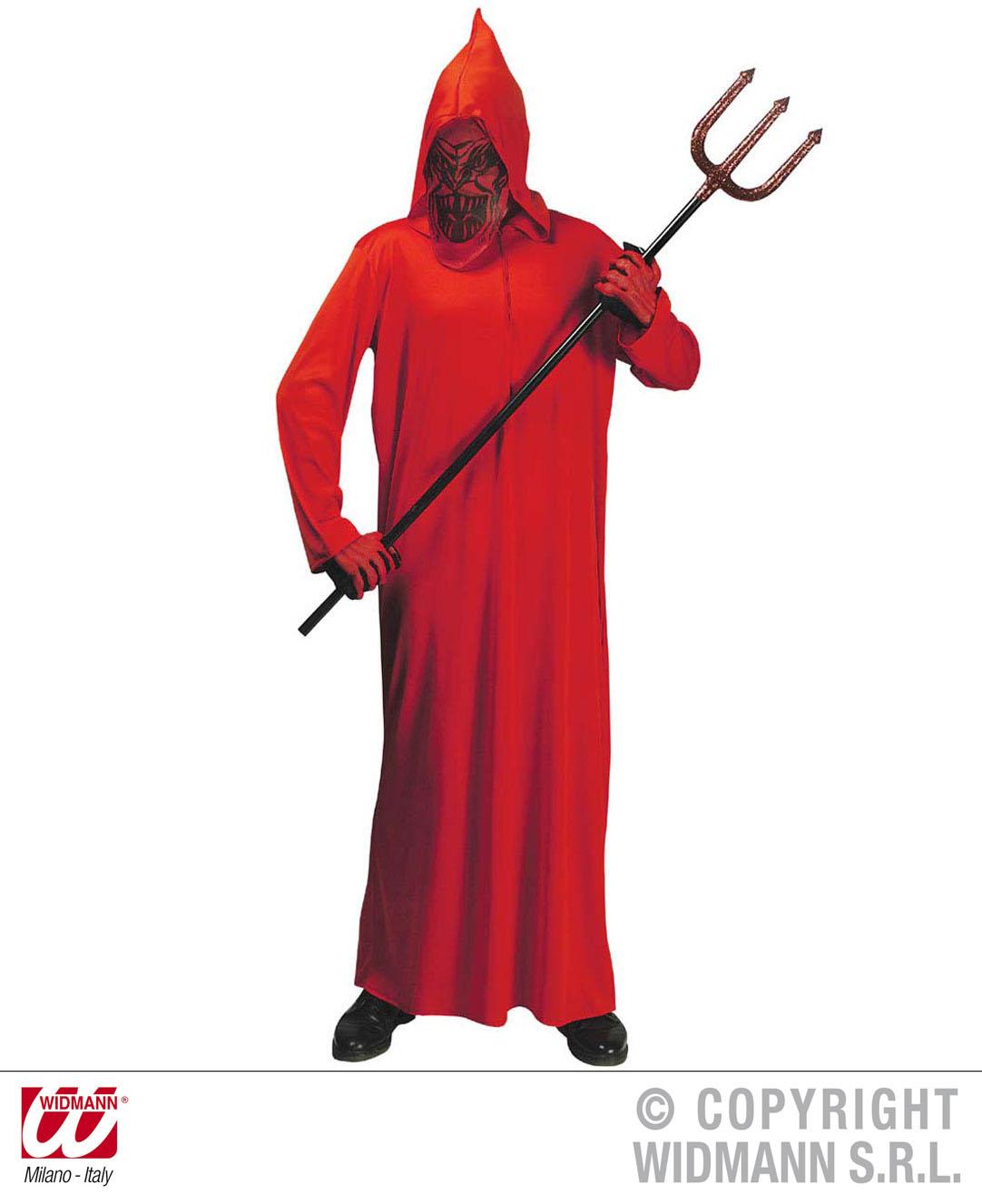 Teufel Kostüm mit Kapuzenmaske rot,Kinder, 0249 Karneval,128,140,158