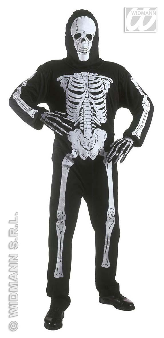 Skelett Kostüm, Tod, Geist Overall + Maske, Kinder 128-140-158 3811