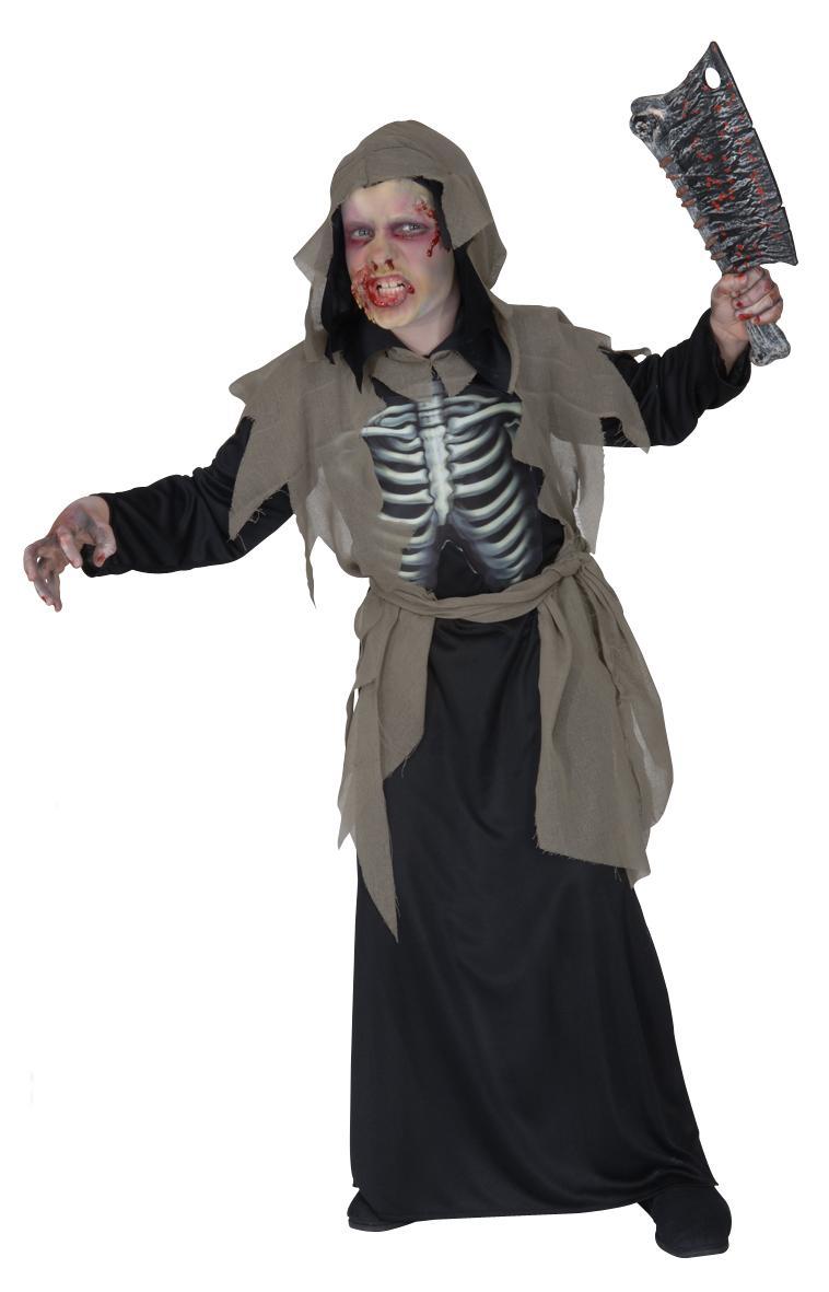 ZOMBIE Kostüm, Kinder, Gr.128,140,158, Halloween, Grusel  5552