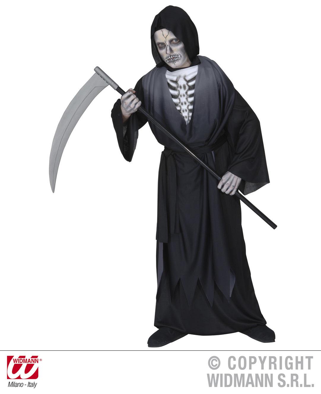 Der Tod,Sensenmann Kostüm,3D Knochenbüste, Kinder Halloween