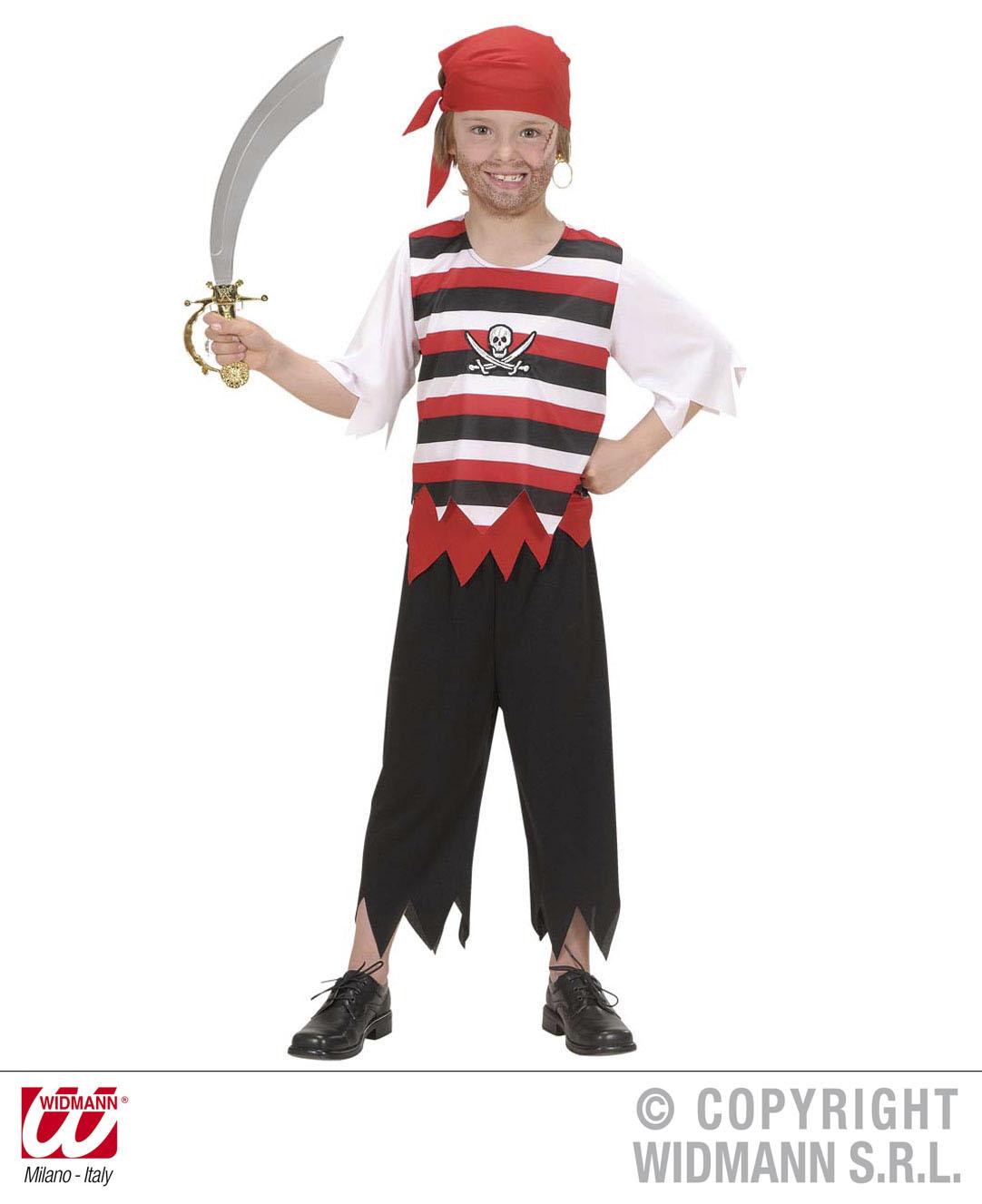 piratenkost m pirat kinder karneval 140 158 rotem kopftuch. Black Bedroom Furniture Sets. Home Design Ideas