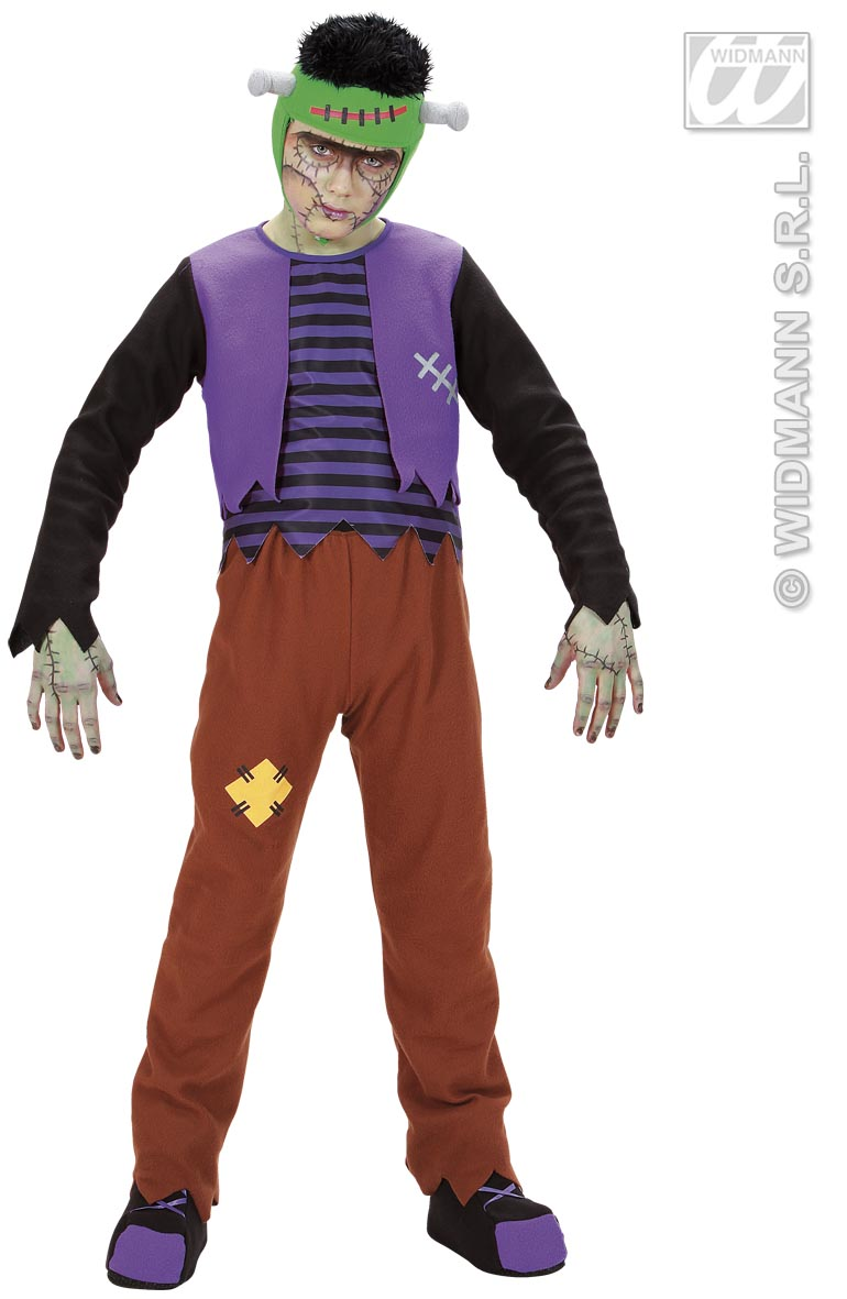 Frankenstein Kostüm, Kinder, Halloween, Karneval 128+140  5876