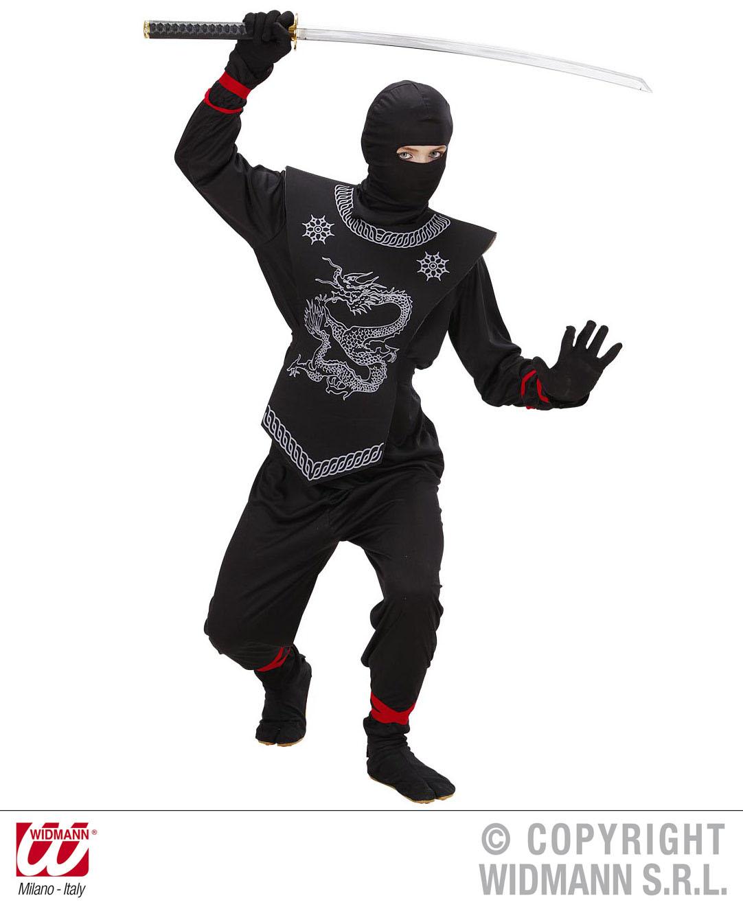 Ninja Kostüm, Ninjakostüm Samurai, Kinder,128, 140, 158 edle Ausführung