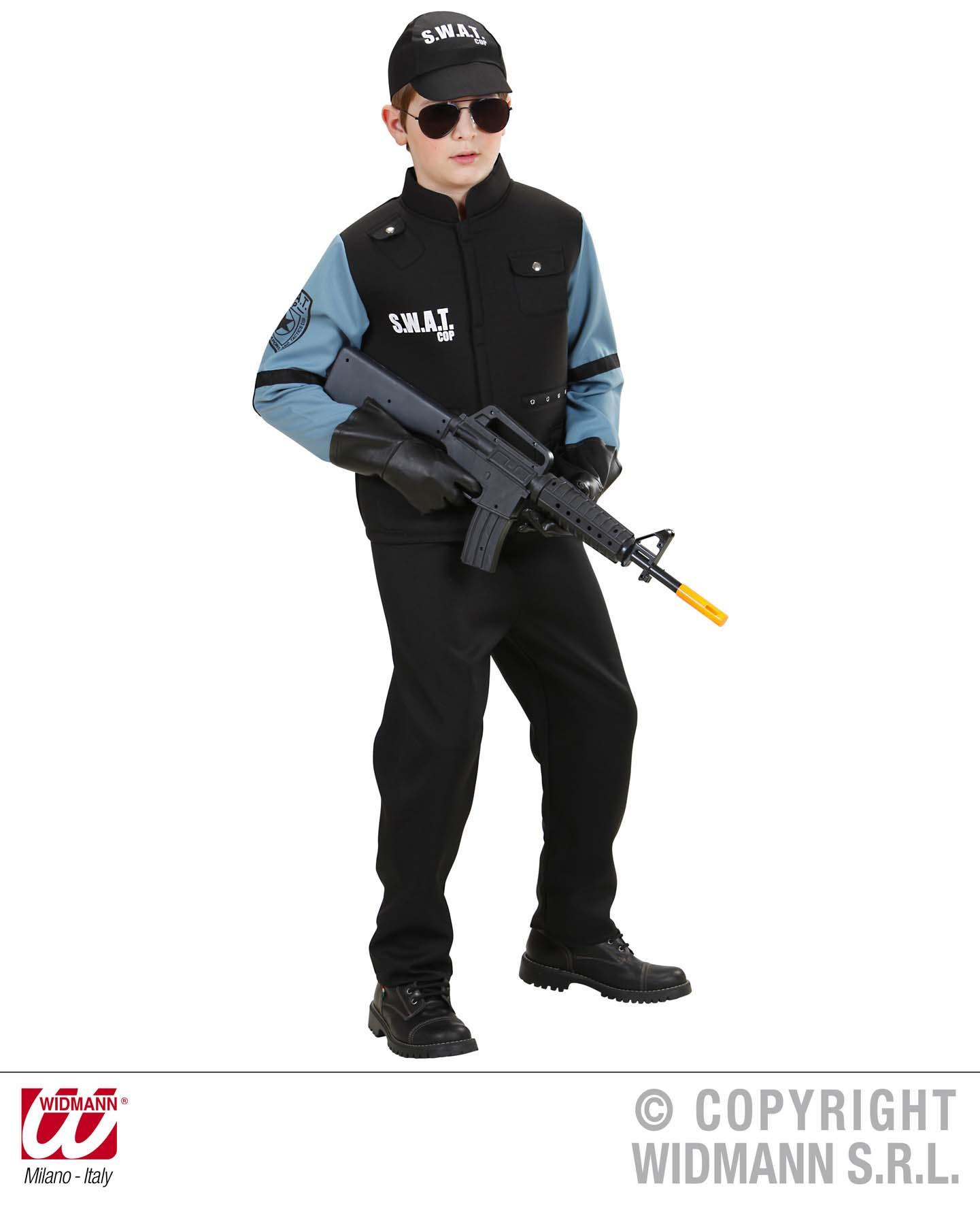 SWAT Hemd Weste, Hose, Kappe, Polizei Jungen Kinder, 128, 140, 158