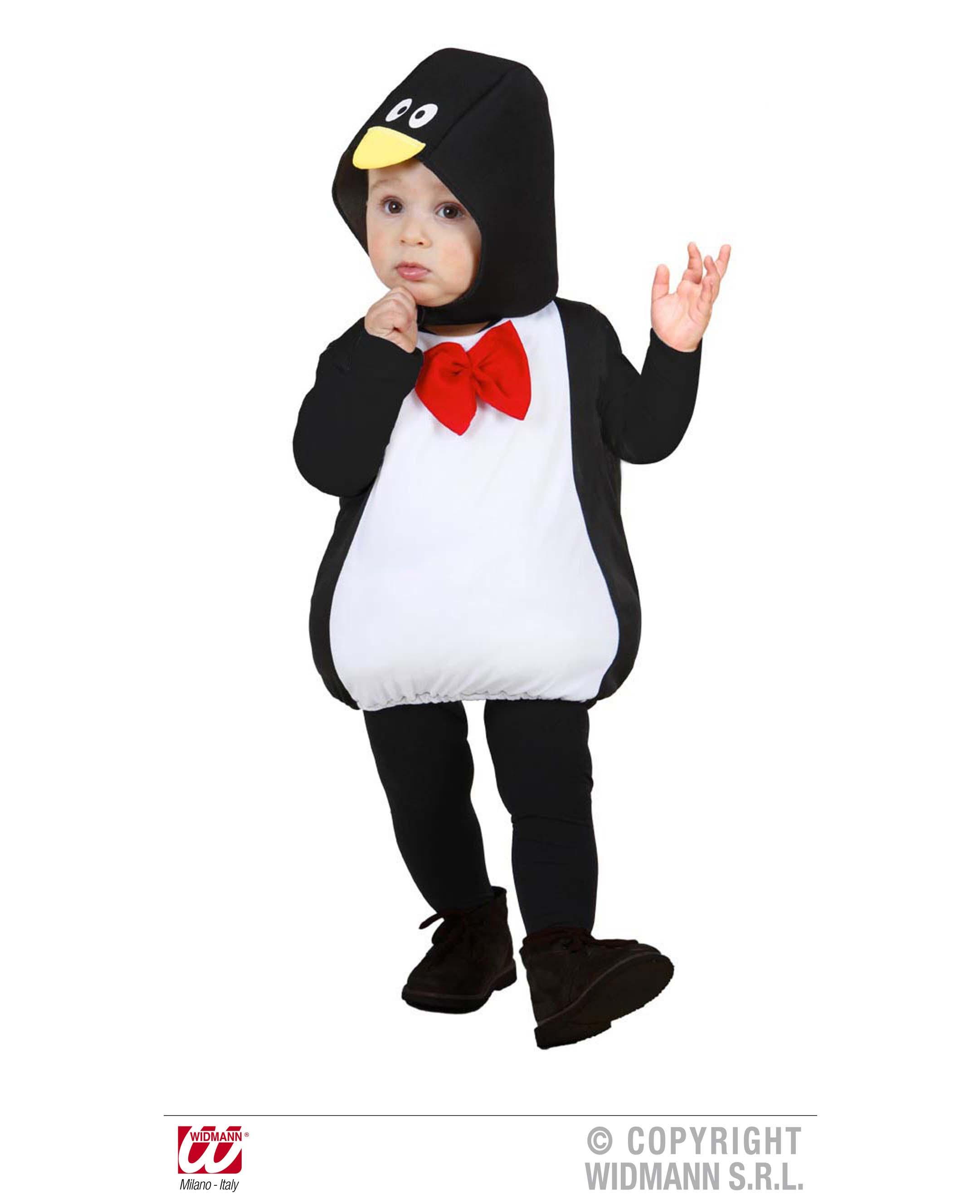 2 tlg. Pinguin Kostüm, Kinder Gr. 80-86. 1-2 Jahre, Karneval 1895