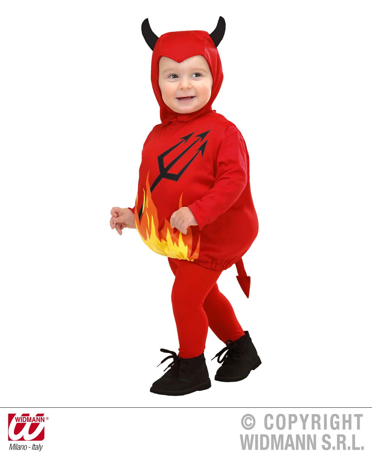 2 tlg. Kostüm Teufel, Kinder Kleinkinder 80-86, 1-2 Jahre,Karneval 1897