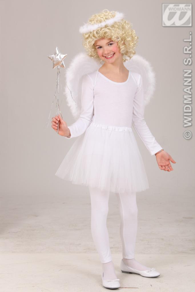 Engel Kostüm, Engelskostüm m. Flügel +Heiligenschein,MädchenKleinkind --98