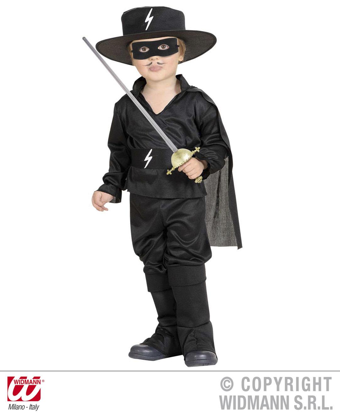 5 tlg. Komplett Kostüm Kleiner maskierter Bandit, Kinder 98, 104