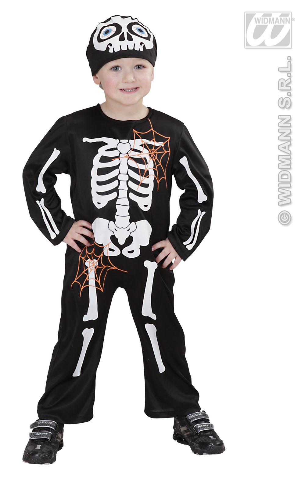 Skelett kostum 140