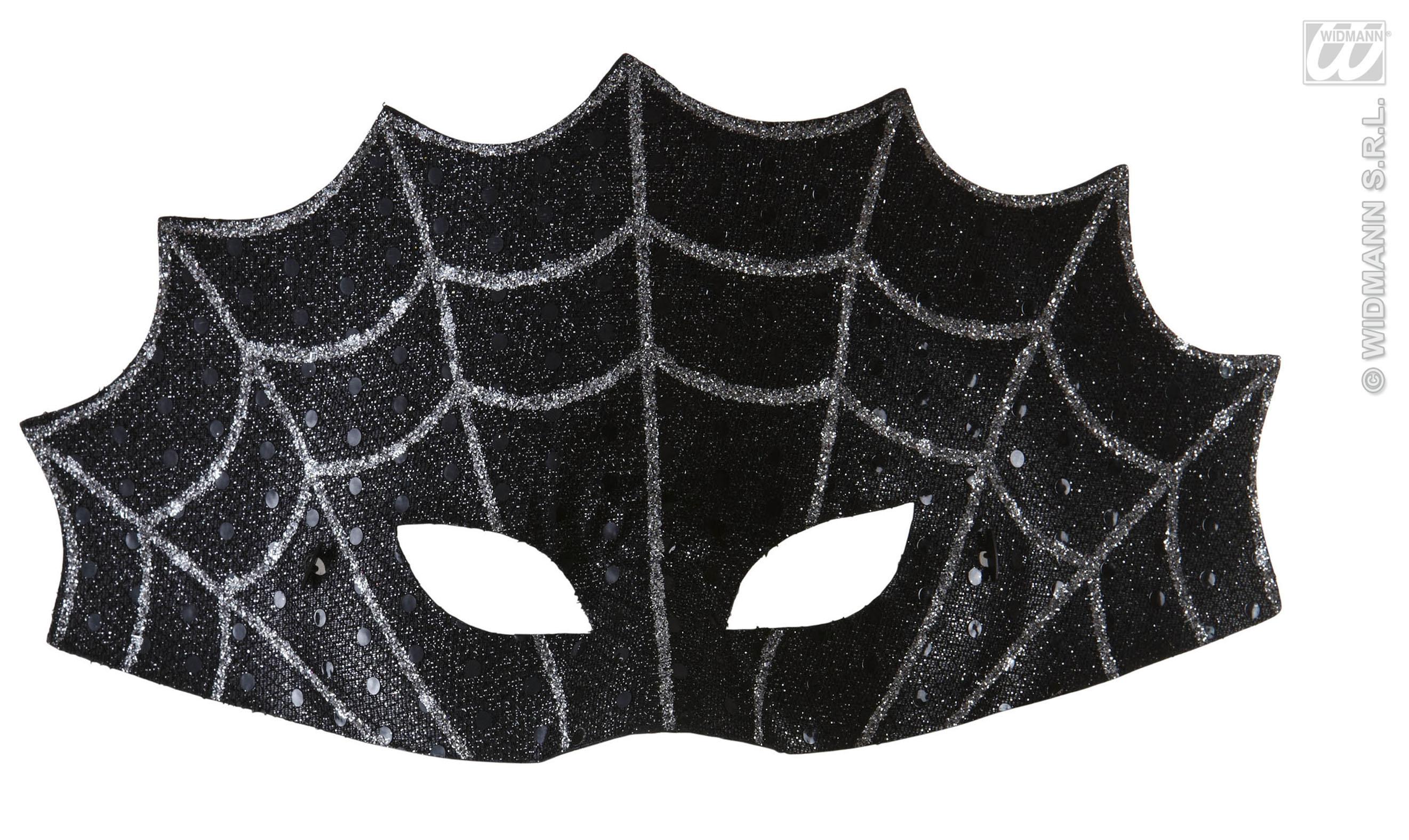 augenmaske spinnennetz maske silber schwarz halloween gothic damen herren. Black Bedroom Furniture Sets. Home Design Ideas