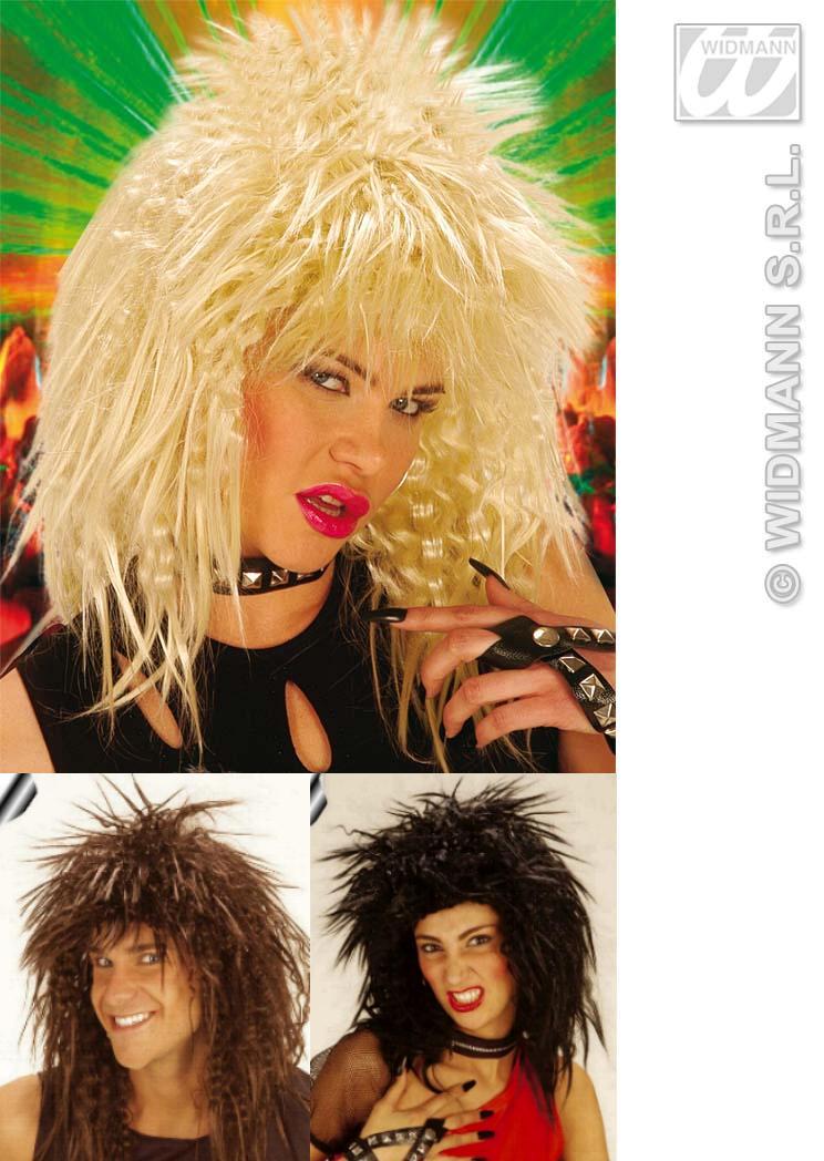 Party Locken Perücke, Rocker Punk für Herren u. Damen 3 Farben  6037