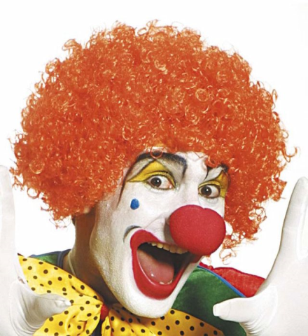 CLOWNSPERÜCKE Clown Locken Perücke Damen orange