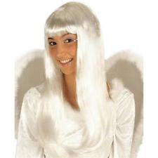 Engel, Engelsperücke weiss,Weihnachtsengel lang glatt, Damen