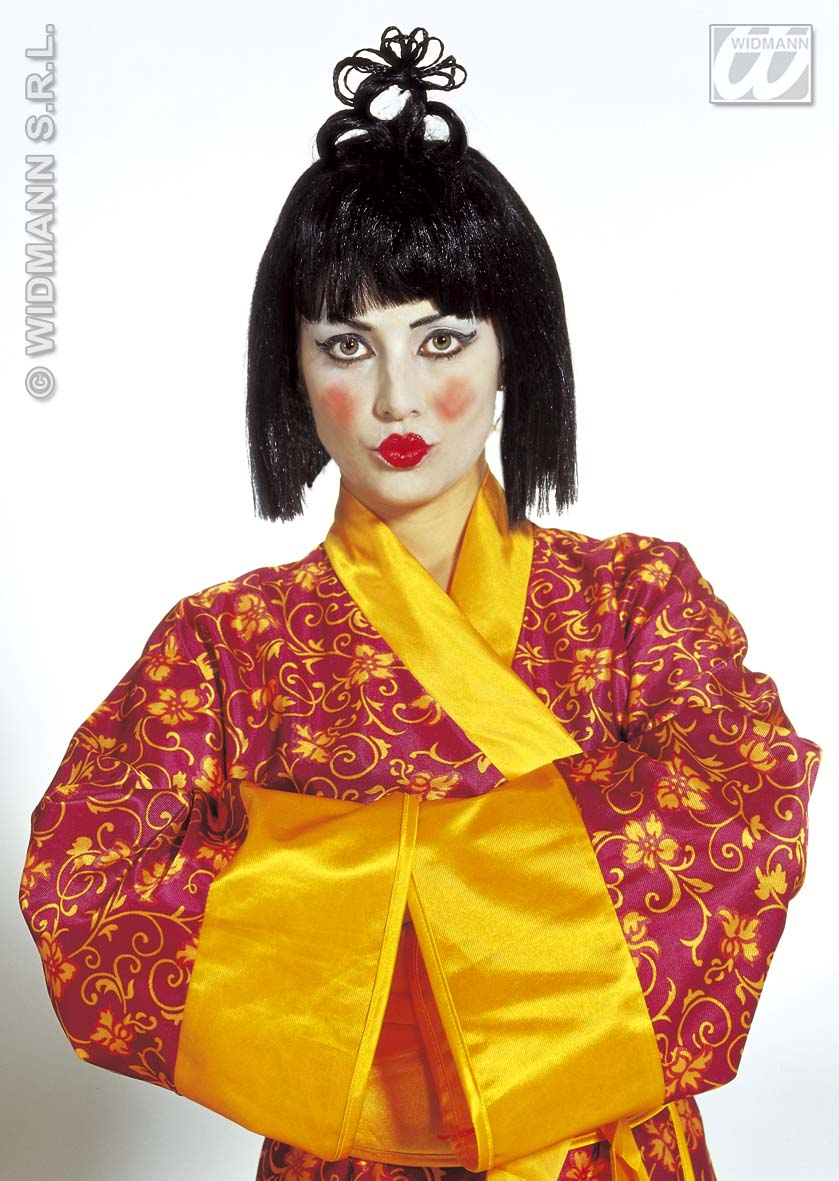 Geisha Perücke schwarz, Japanerin, China Asien, Damen