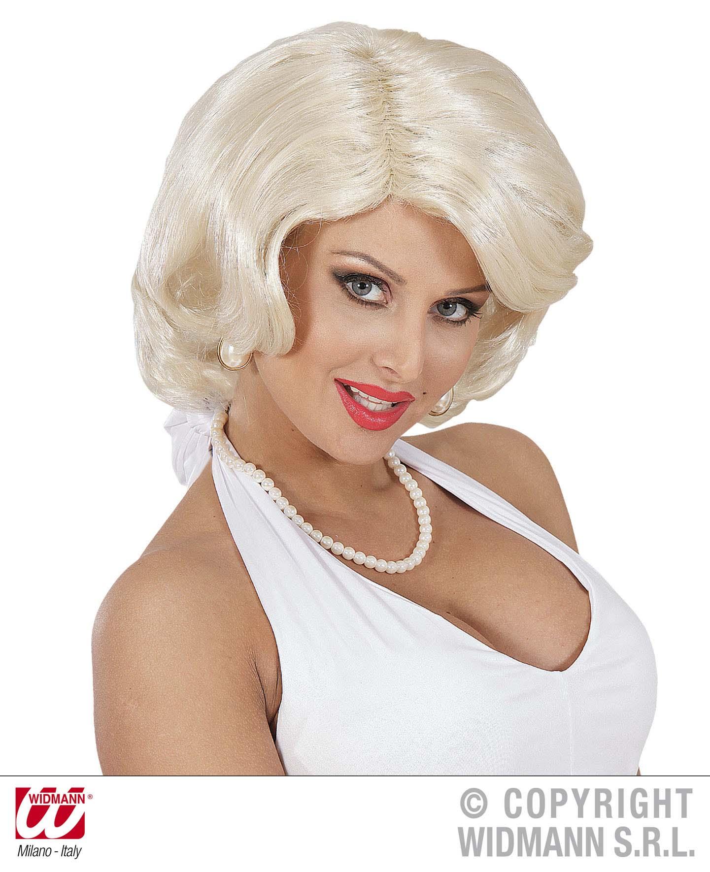 60er Jahre PERÜCKE, Marilyn Damen Karneval Mottoparty blond