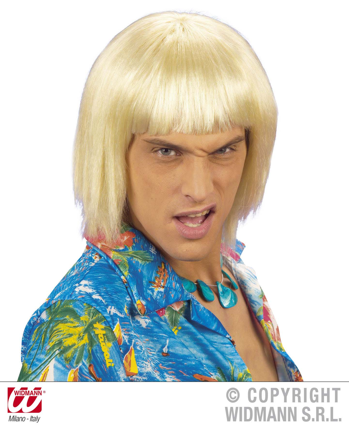 Beach Boy, 70er Perücke, Mann, blond, schwarz,braun Mottoparty Hawaii