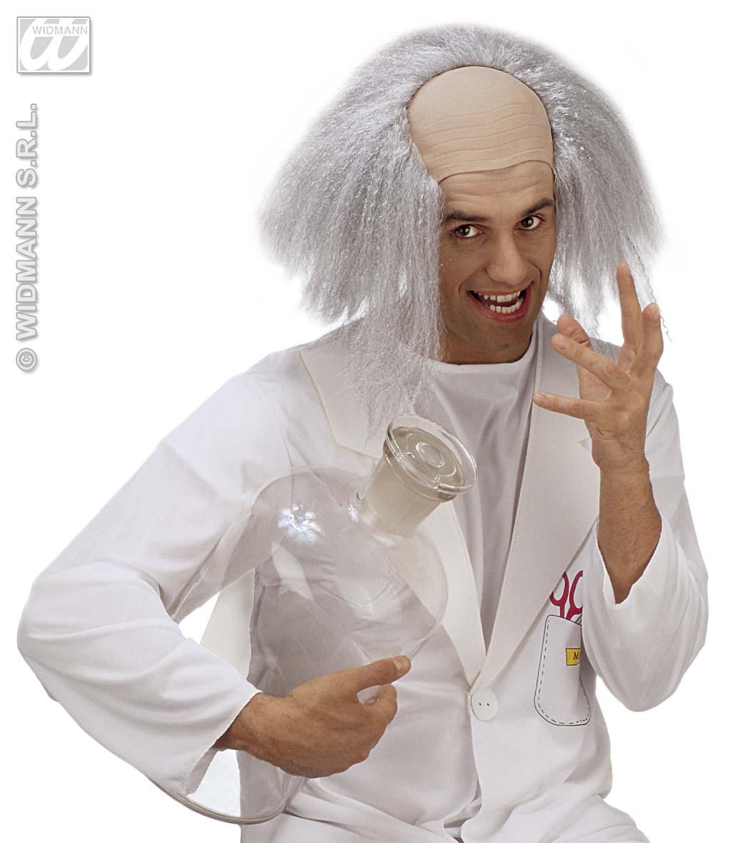 Einstein *Perücke mit Glatze Karneval Fasching