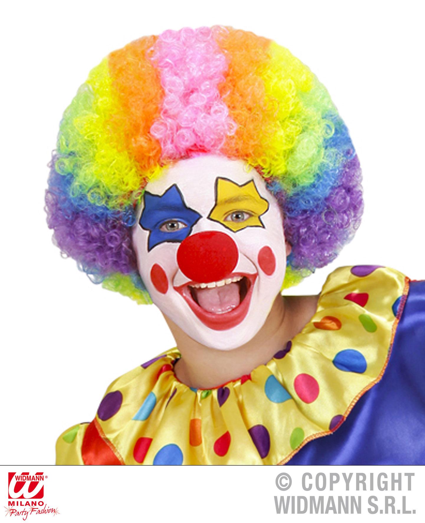 Clown Perücke bunt, Kinder mit vielen Locken  7459