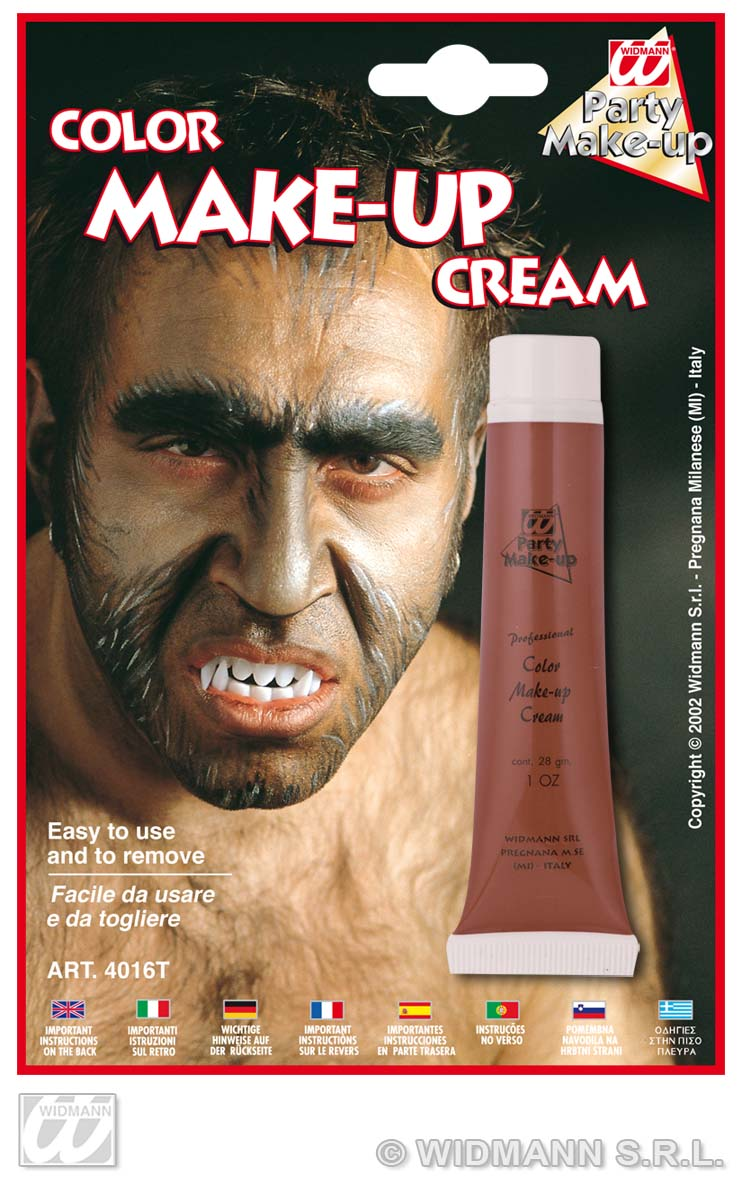 Werwolf  Make up -Creme Tube, BRAUN, Schminke, Halloween 4034