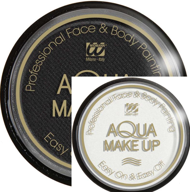 Aqua Make up,Wasser Schminke, Gesicht u. Körper 30 g, weiß o. schwarz