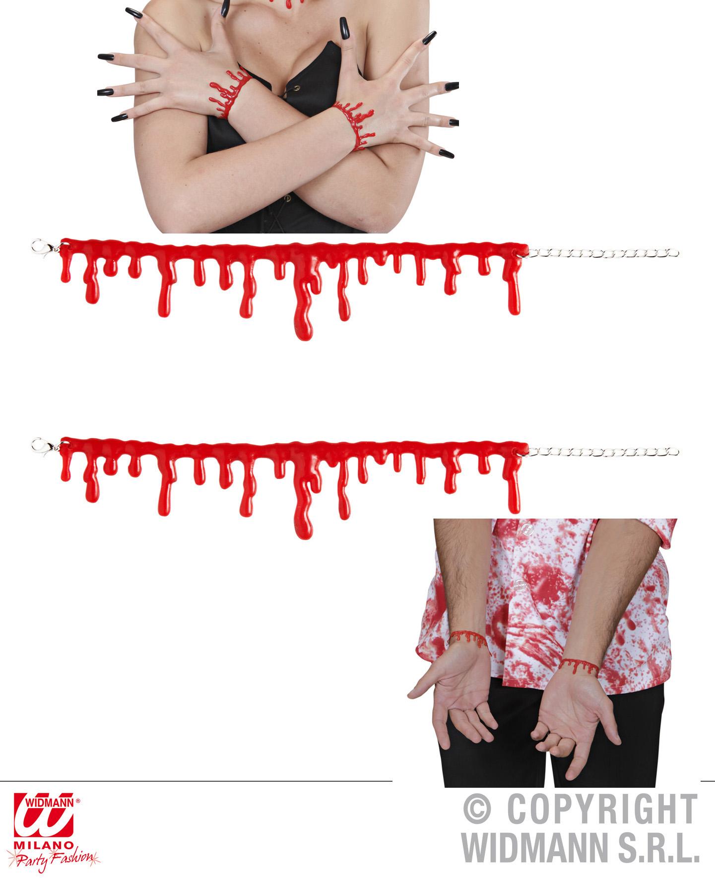 2 x Blutstropfen Armband rot verstellbar Halloween Horror Damen Herren