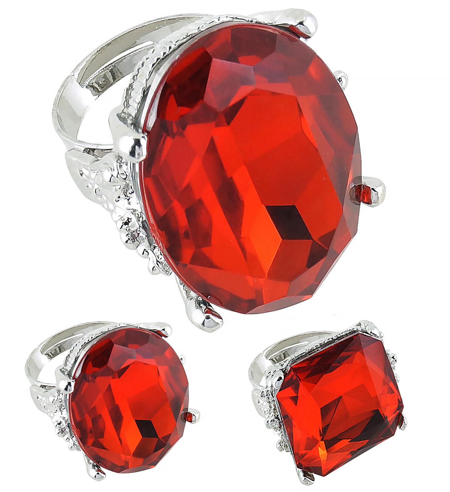 Jumbo Luxus Ring, ROT, Dracula, Graf Gothic,oval,rund,eckig Herren