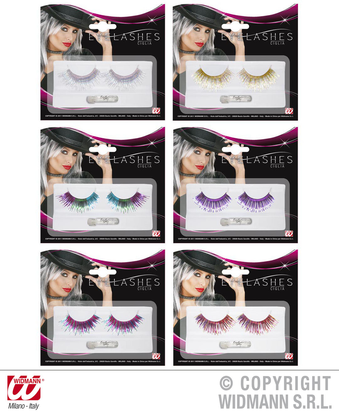 WIMPERN, Metallic, silber,gold,bunt Karneval, Party Glamour