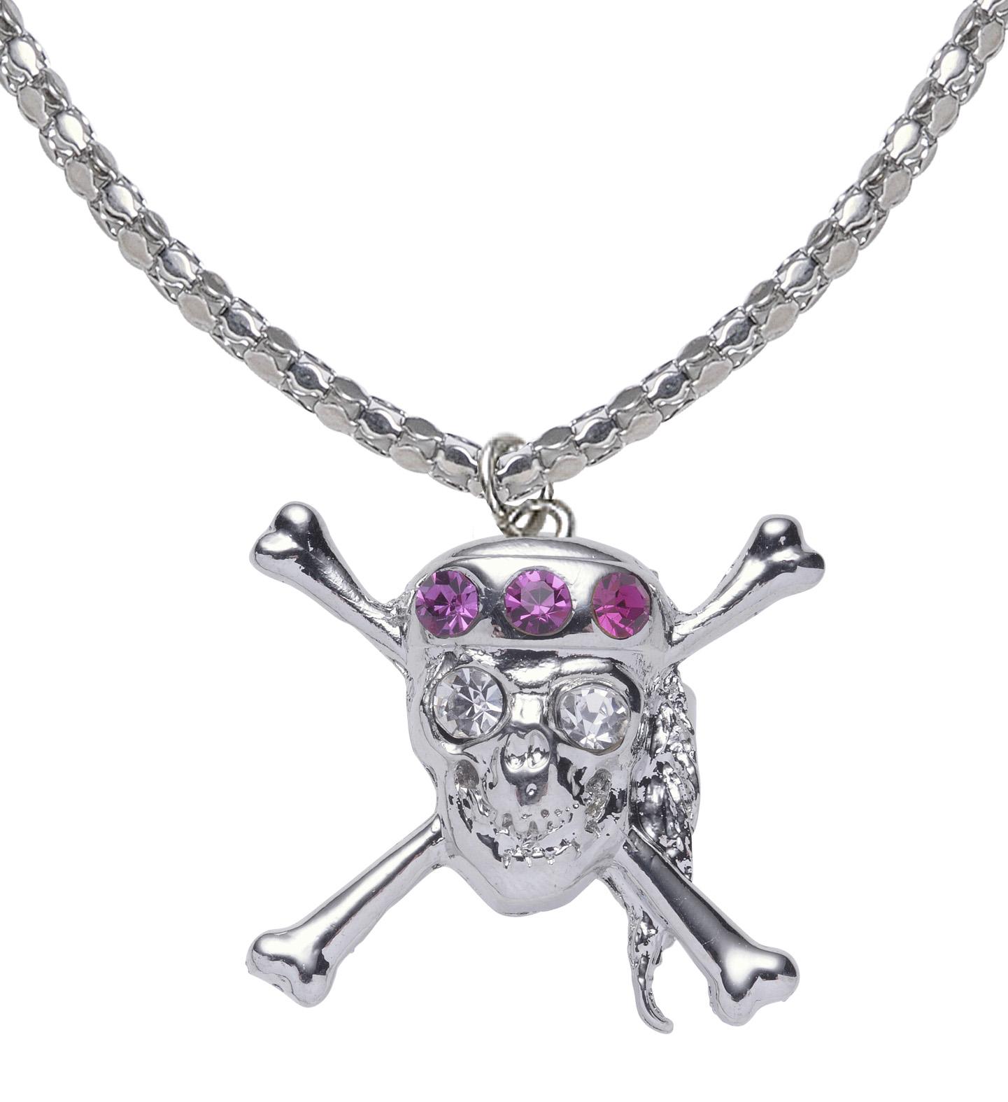3 tlg. Set Totenkopf Strumpfband mit Ring und Kette,Strass Gothic,Pirat